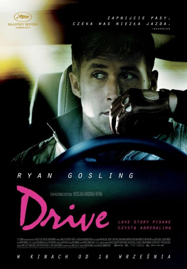 "Ryan Gosling na polskim plakacie do filmu ""Drive"""