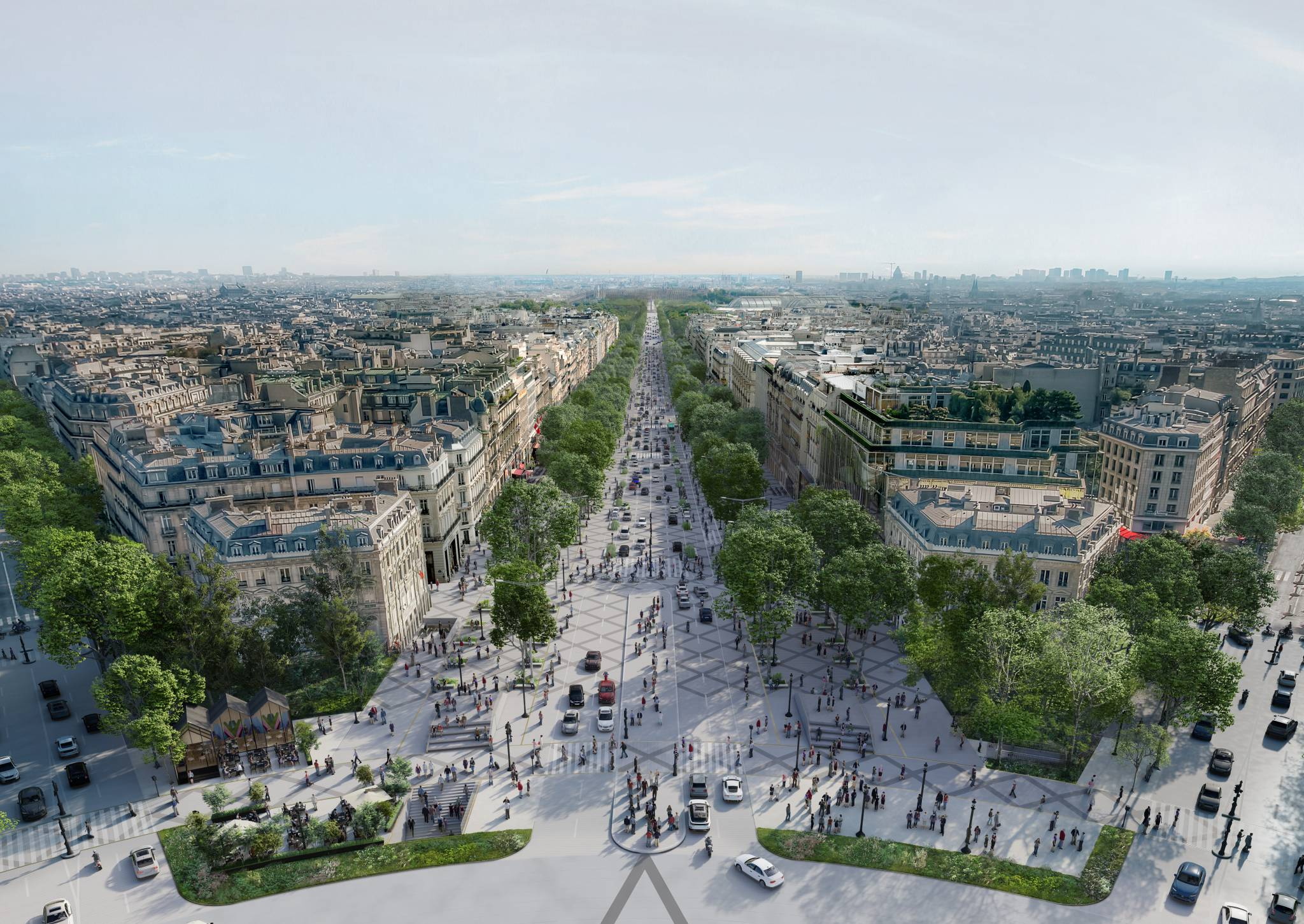 Champs-Élysées jako miejski ogród? Oto jak zmieni się najpopularniejsza ulica Paryża