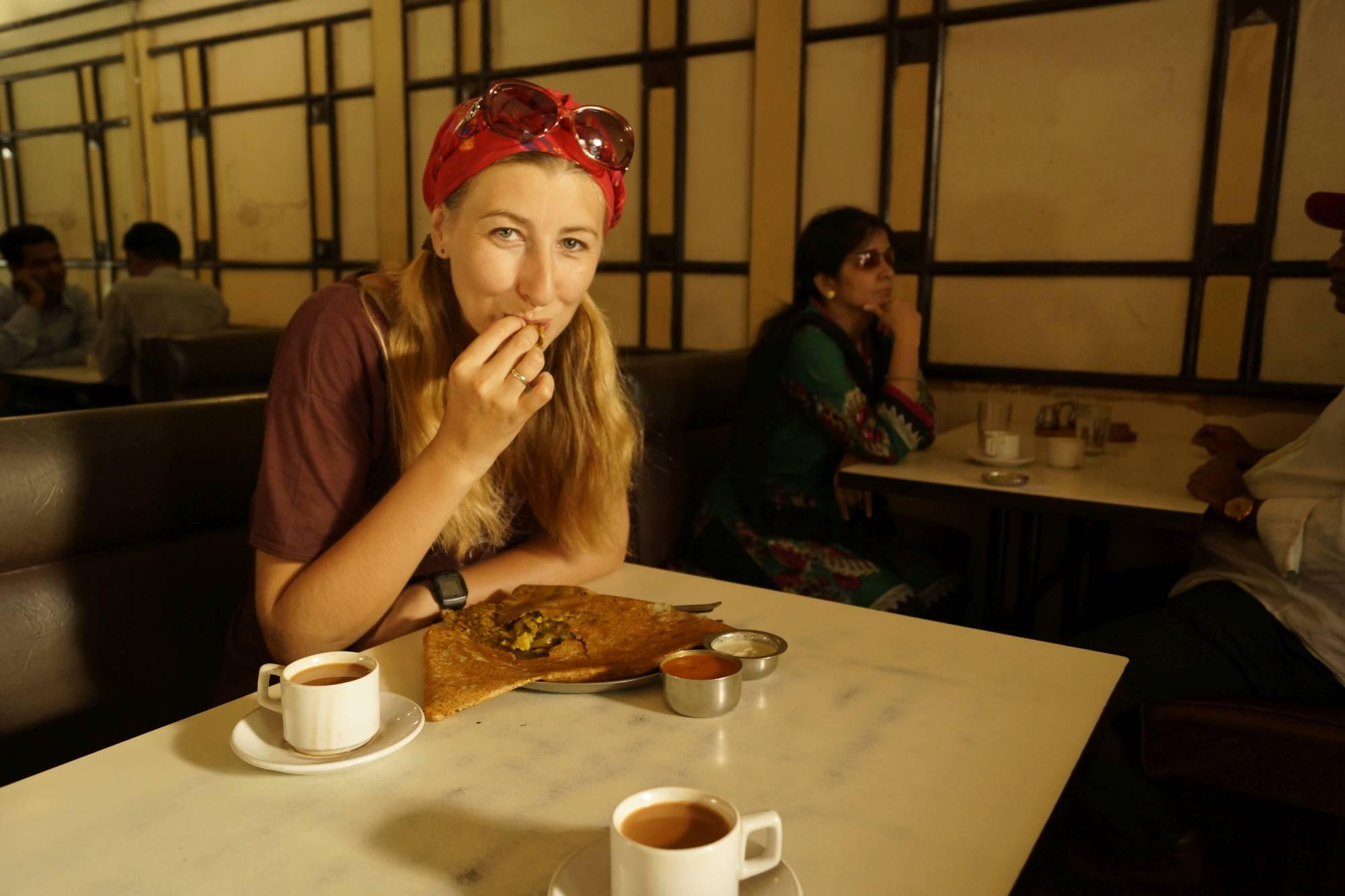 Pierwsze śniadanie w Mumbaju