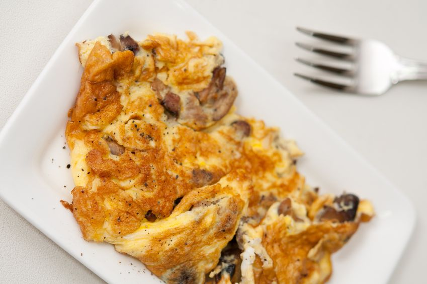 Małkowska, Tarasin i omlet z pieczarkami