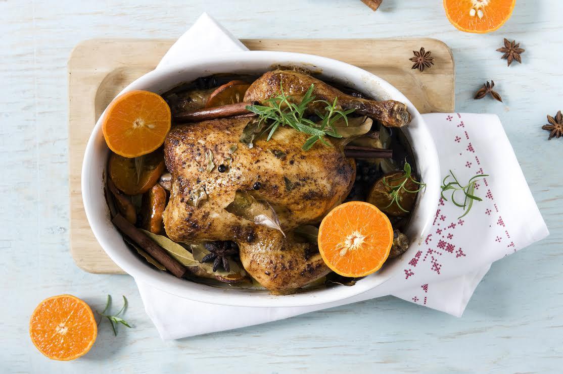 Przepisy świąteczne: kurczak z mandarynkami