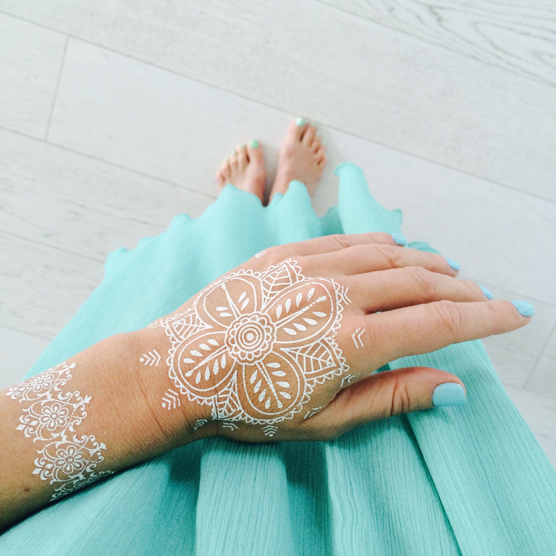 Hit Lata Biały Tatuaż Z Henny Tattoo Bijoux Zwierciadlopl