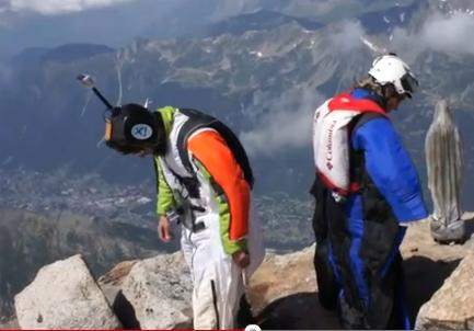 Wingsuit w masywie Mont-Blanc