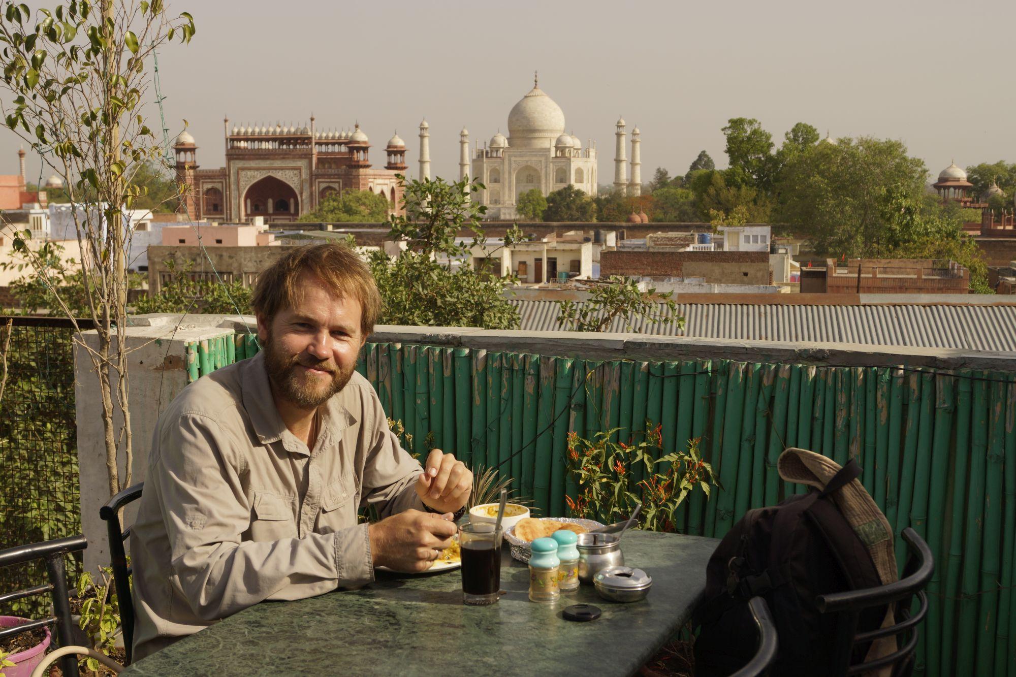 Śniadanie z widokiem na Tadż