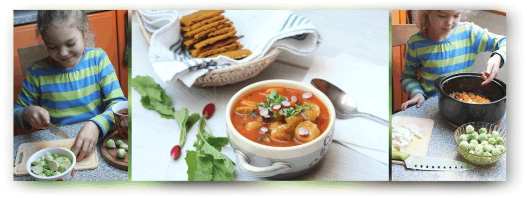 Zupa z brukselki i pomidorów