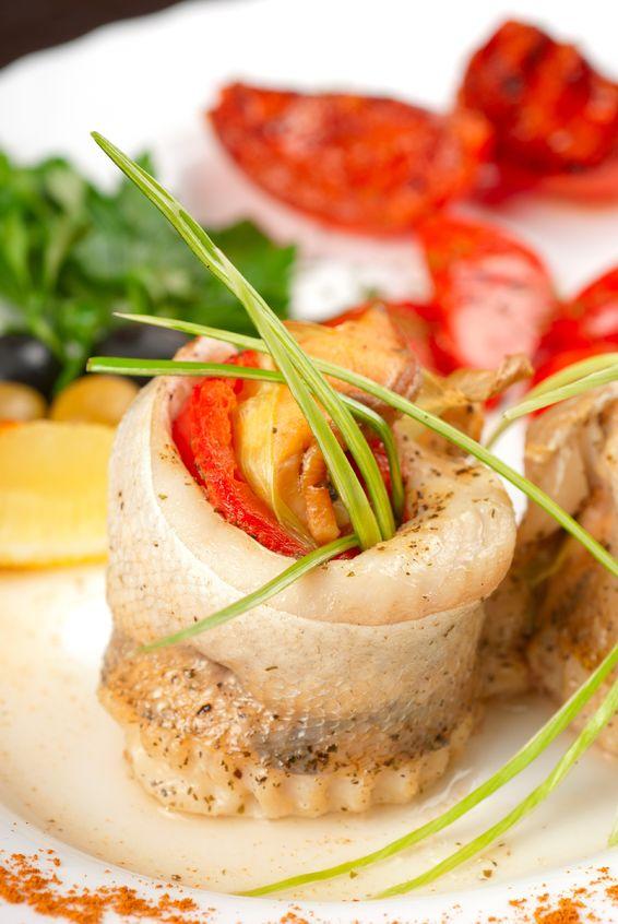 Rolada z sandacza i pieczonej papryki