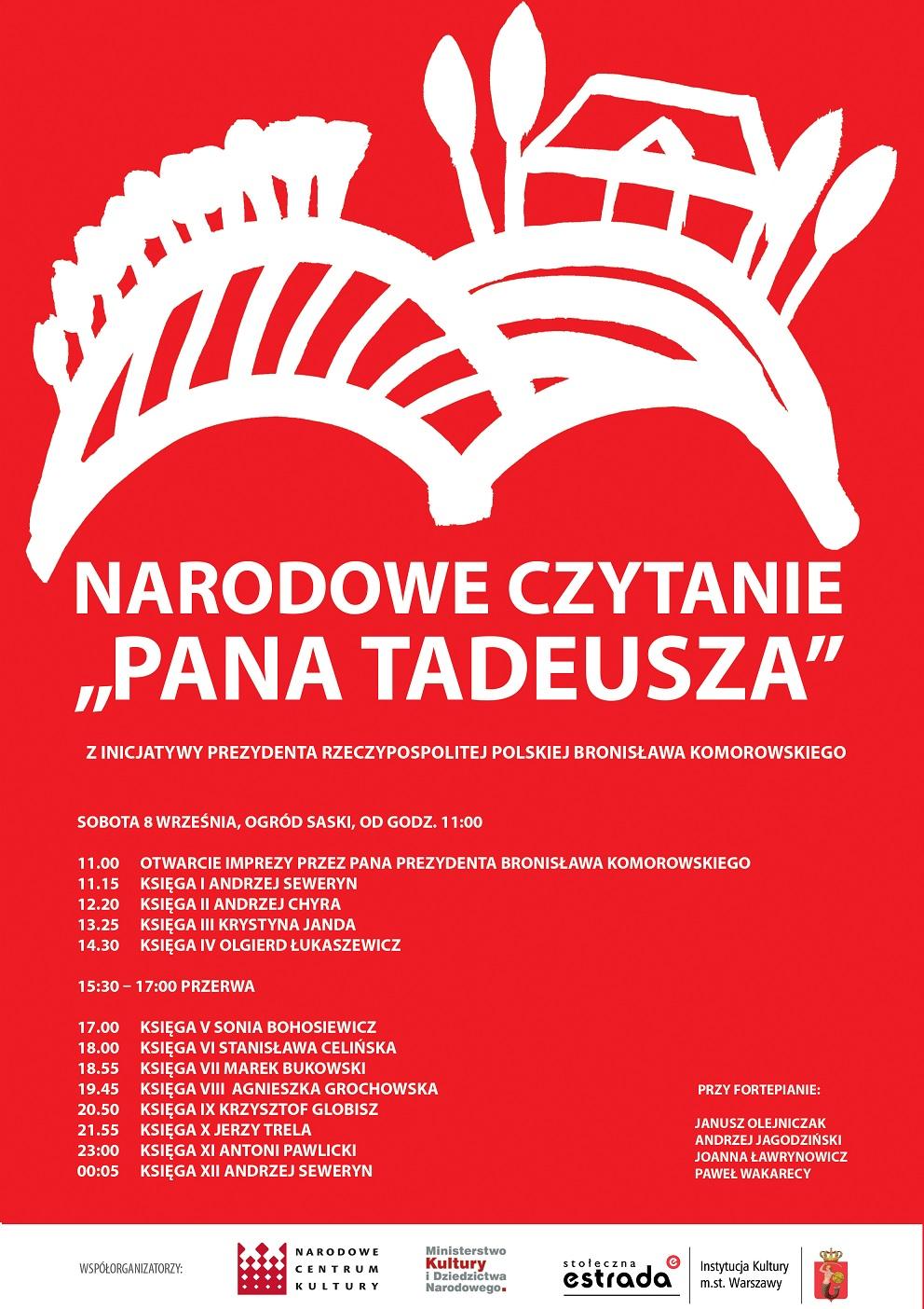 """Narodowe Czytanie """"Pana Tadeusza"""""""