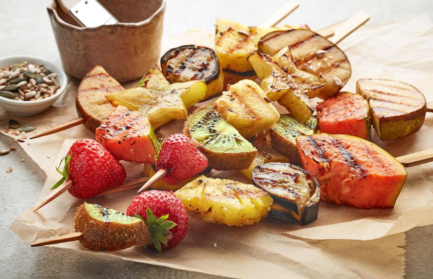 Grillowane szaszłyki owocowe
