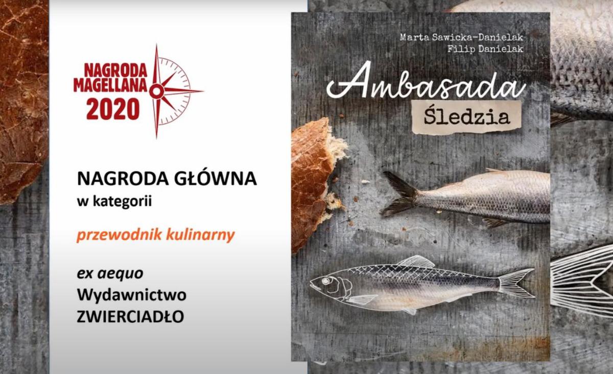 """Nagroda Magellana w kategorii przewodnik kulinarny dla książki """"Ambasada Śledzia"""""""