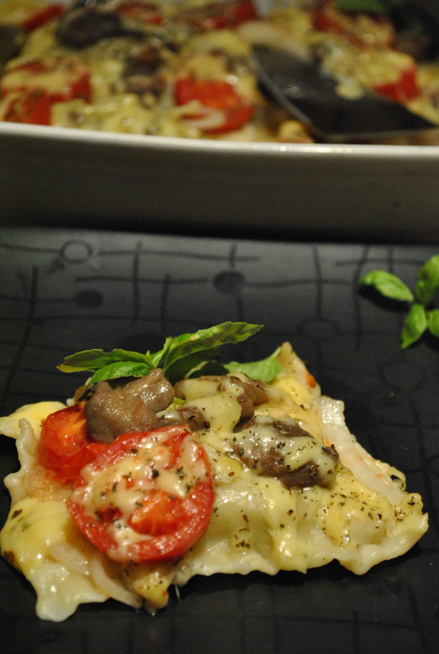 Ravioli z maślakami zapiekane pod pomidorami odsłona nr 2