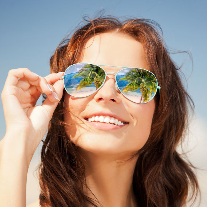 Okulary słoneczne dopasowane do formy wypoczynku