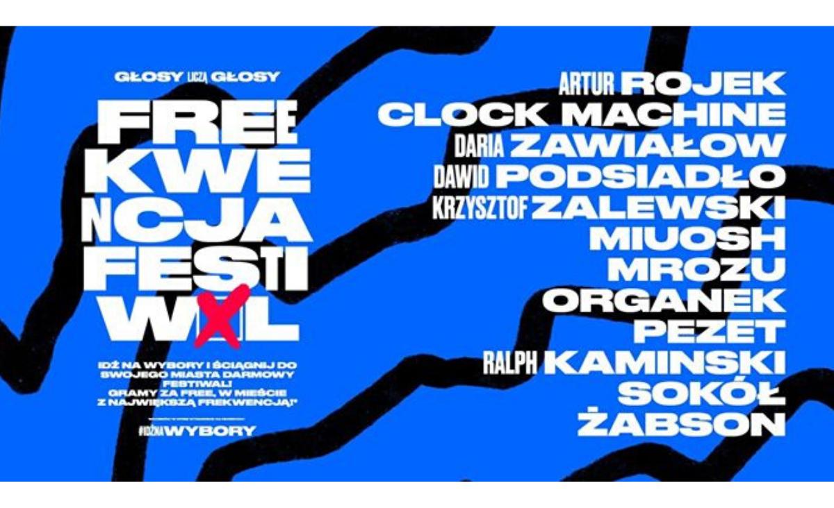 Freekwencja Festiwal - polscy artyści zachęcają do udziału w wyborach