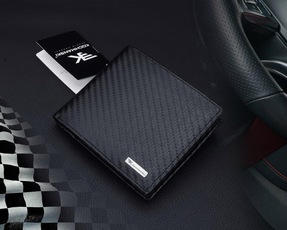 Nowoczesne portfele męskie z kolekcji Carbon
