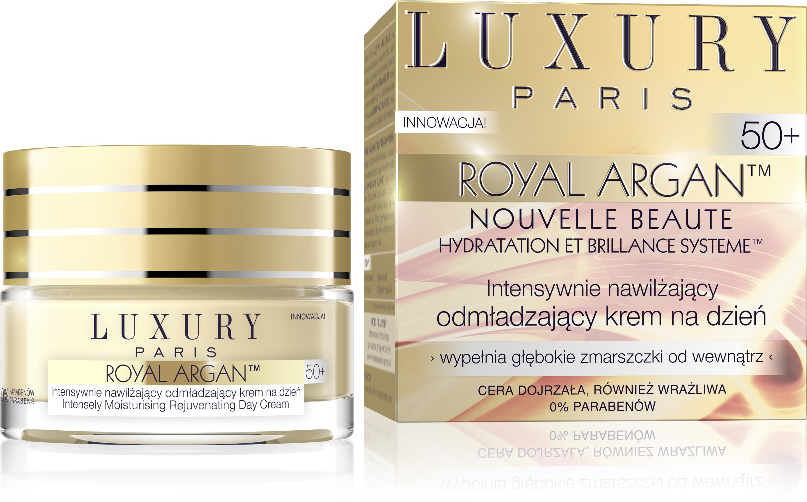 Luksusowy krem na dzień o bogatej formule z unikalnym kompleksem odmładzającym ARGAN RENEWAL COMPLEXTM