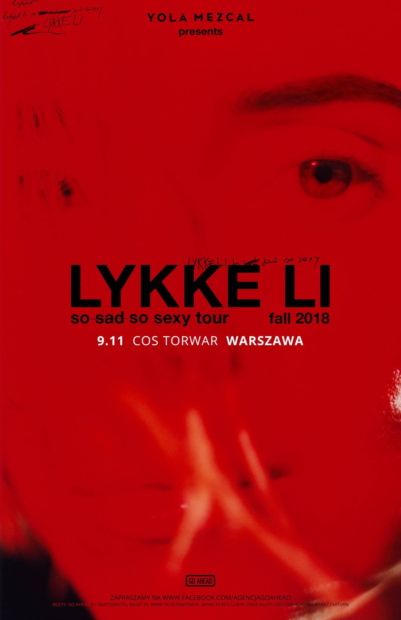 Agencja Go Ahead zaprasza na jedyny w Polsce koncert Lykke Li! Artystka zagra 9 listopada na warszawskim Torwarze!