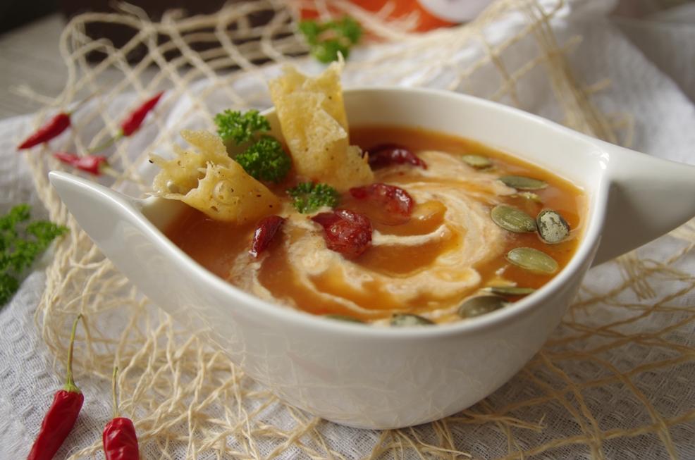 Dyniowa zupa krem z serkiem