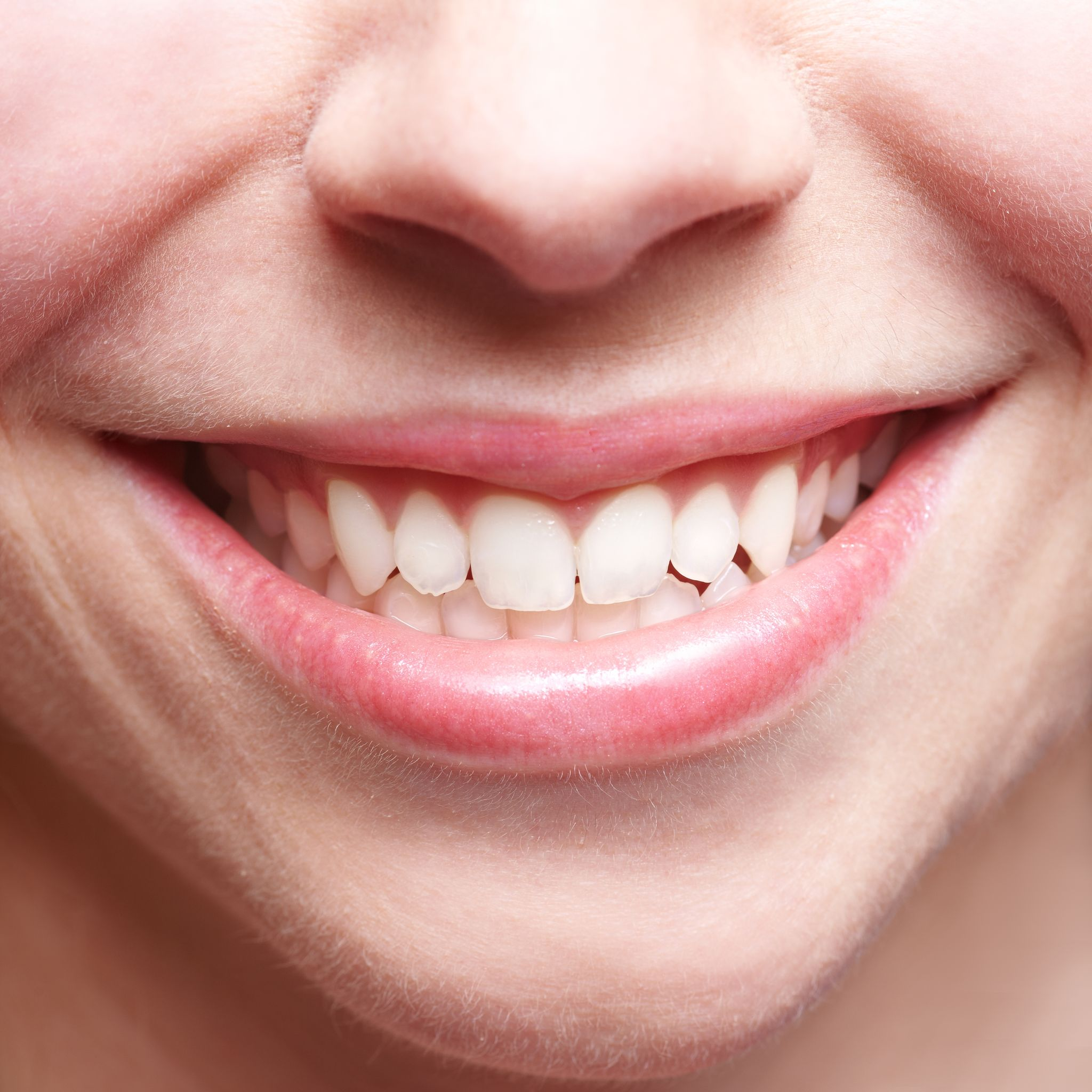 14754696 - close-up of smiling female mouth with bright teeth showing