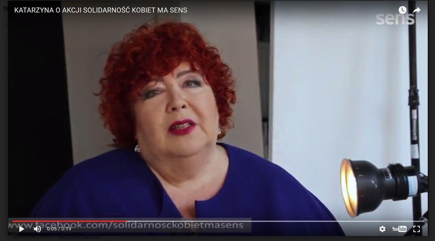 Katarzyna Miller o akcji Solidarność kobiet ma sens