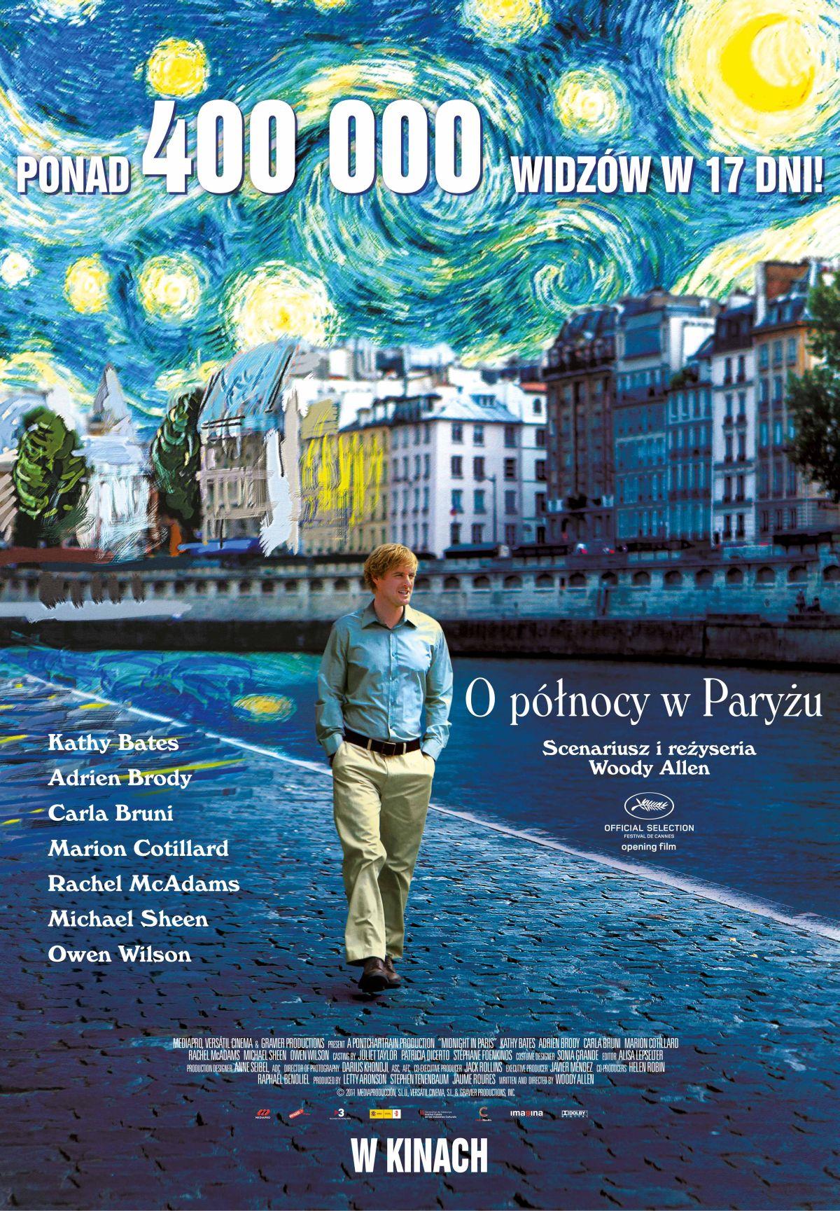 """""""O północy w Paryżu"""" najbardziej kasowym filmem Woody'ego Allena w Polsce!"""