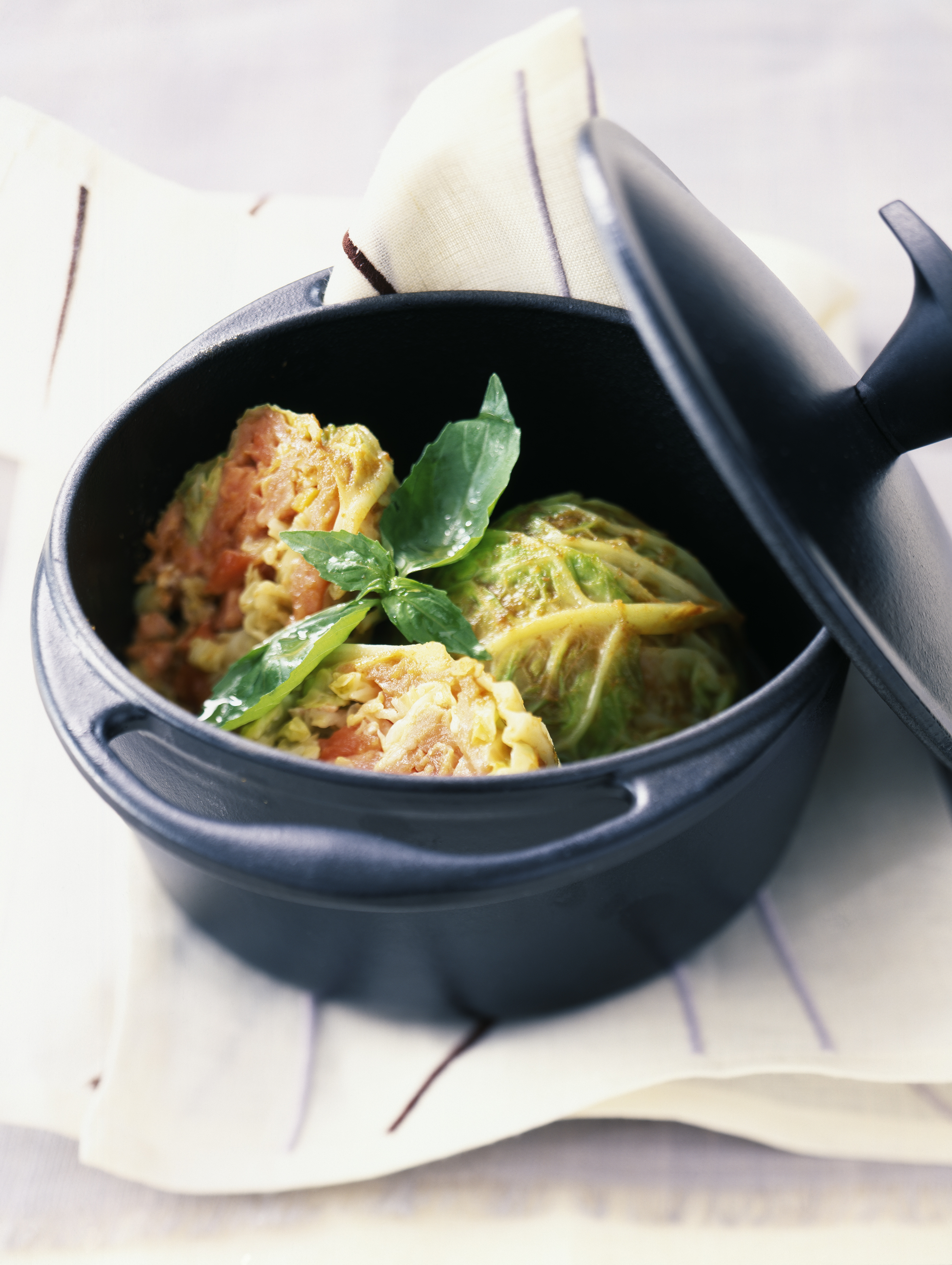 Cabbage stuffed with salmon