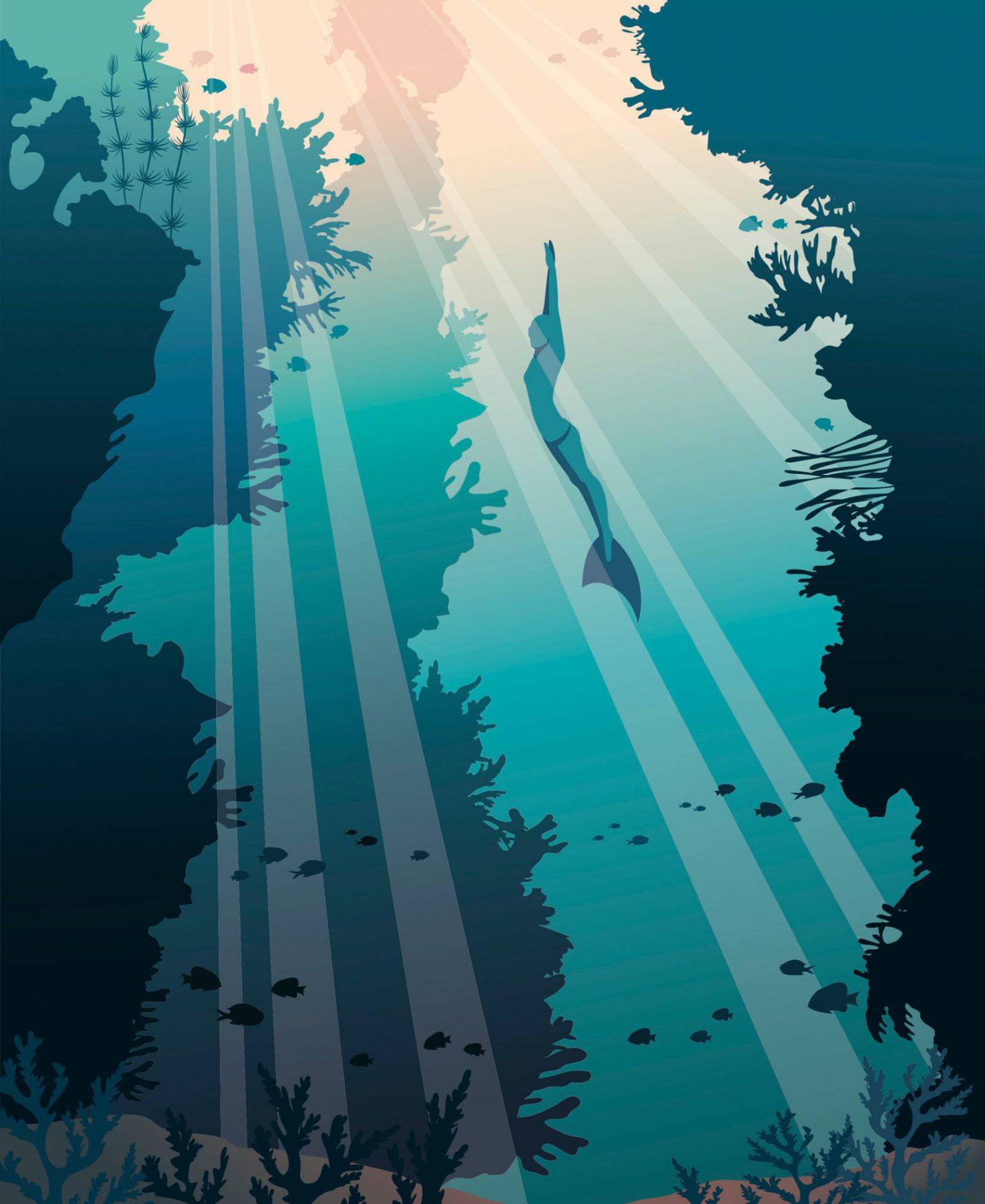 W wodzie trzeba być zmotywowanym i wyluzowanym. Ta zasada sprawdza się też nad powierzchnią. Dobrze, gdy ci na czymś zależy, ale nie za bardzo. (Fot. iStock)