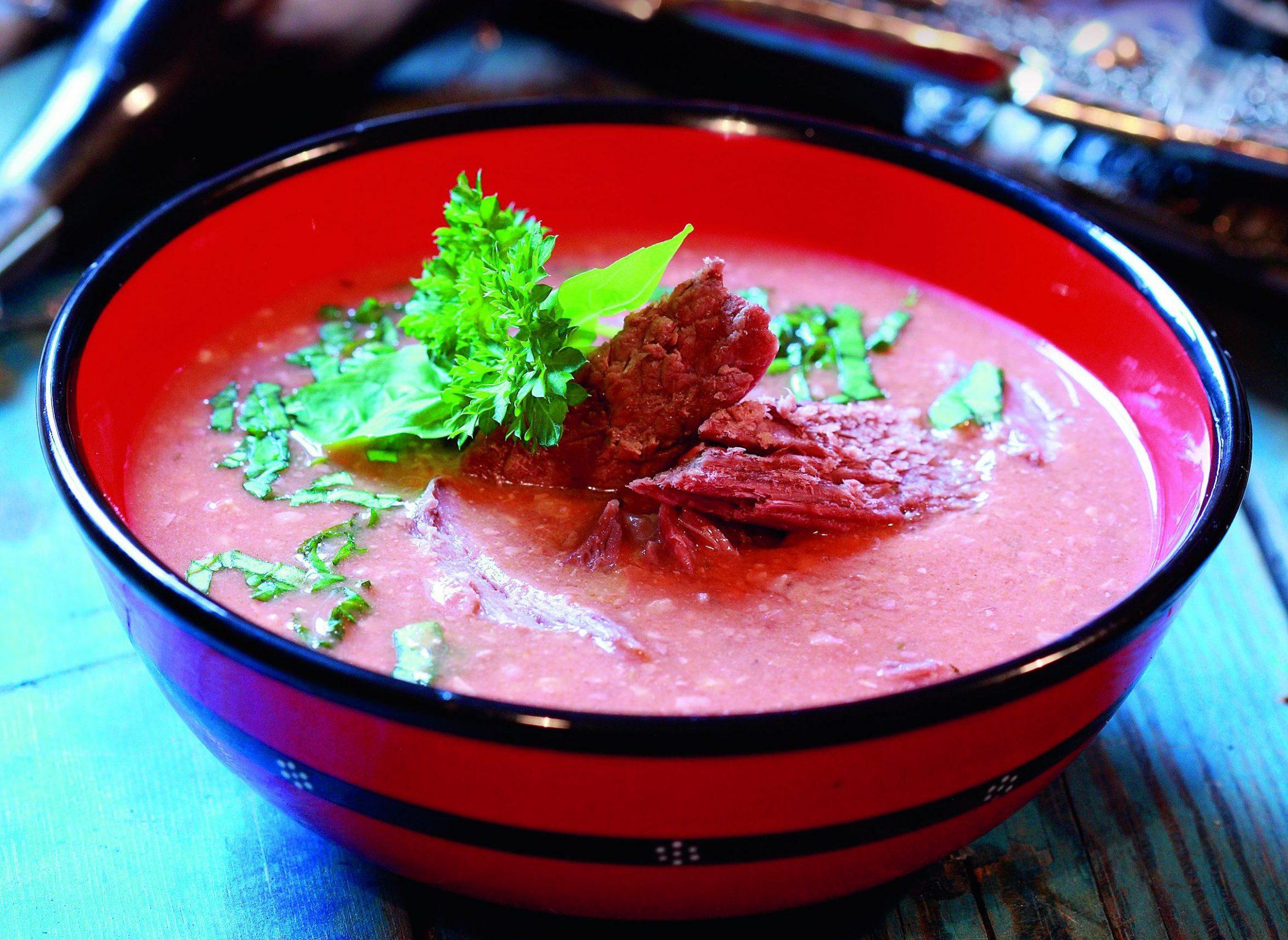 Zupa z orzechami