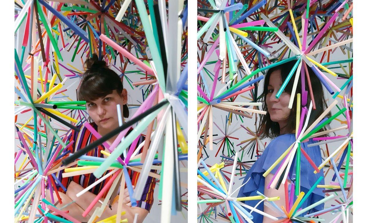 Patka Smirnow (z lewej) i Karina Królak w swojej sztuce hołdują filozofii zero waste (Fot. archiwum prywatne)