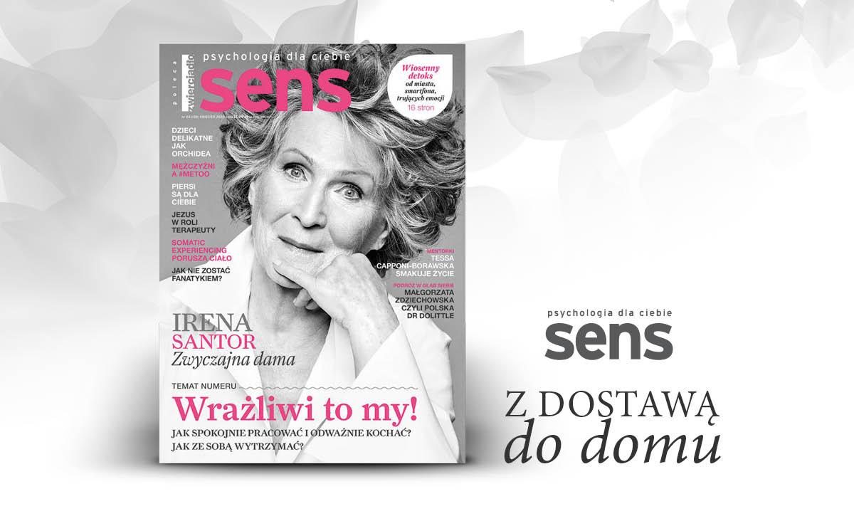 """Kwietniowe wydanie miesięcznika """"Sens"""" już w sprzedaży"""