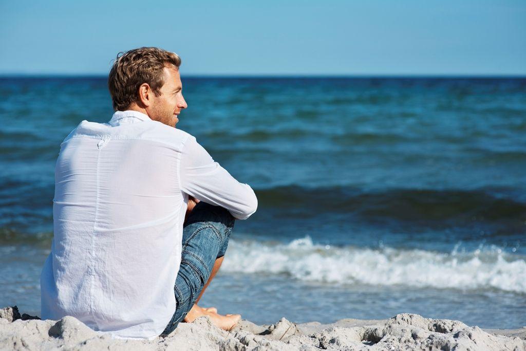 the man on a beach