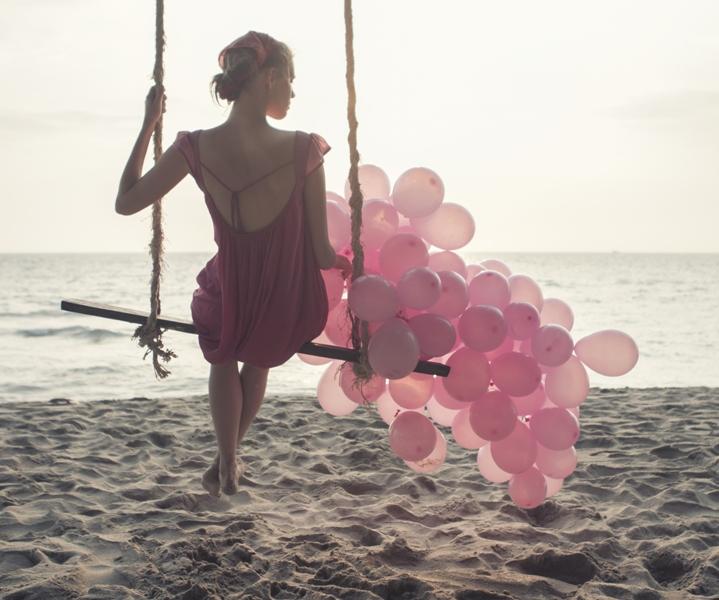 Etap różowej sukienki