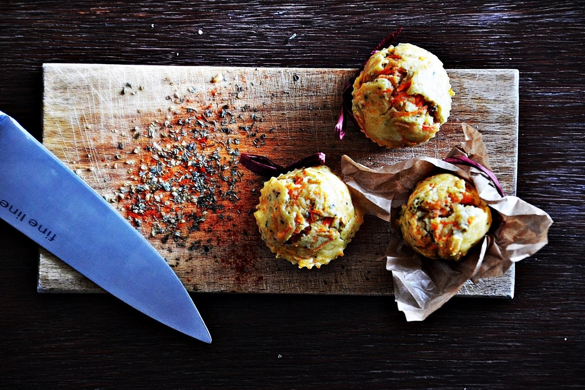 Wytrawne marchewkowe muffiny