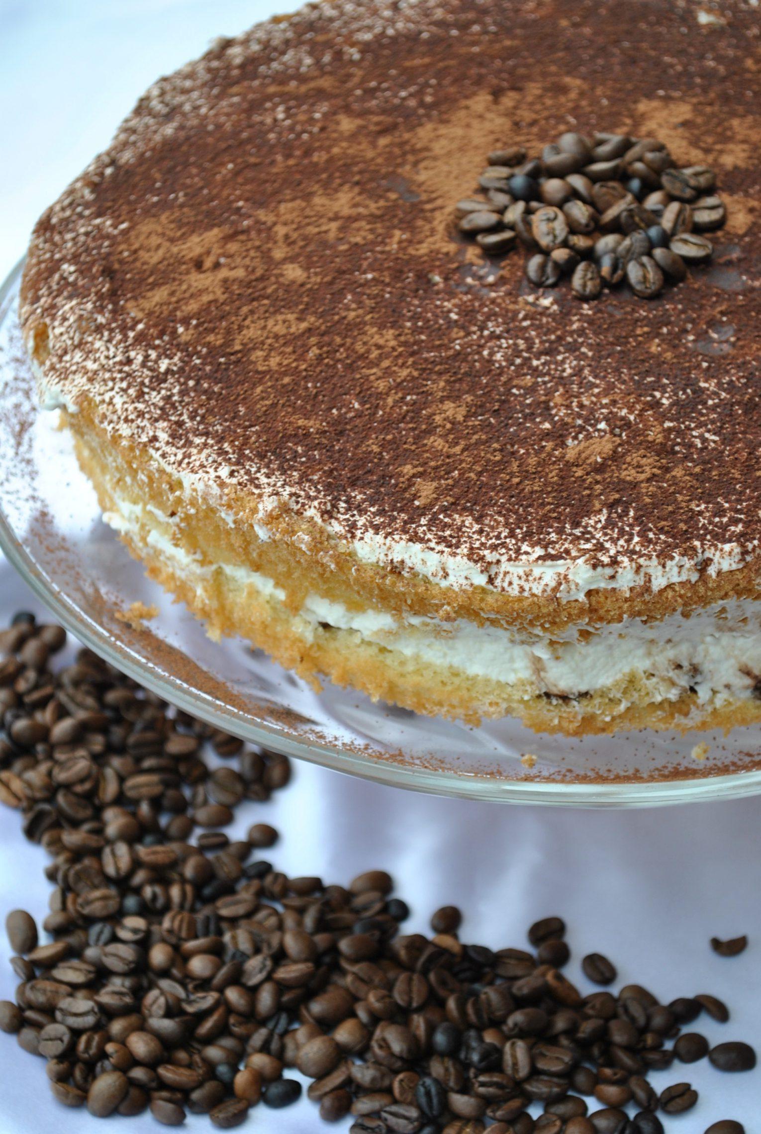 Tort kawowy z mascarpone
