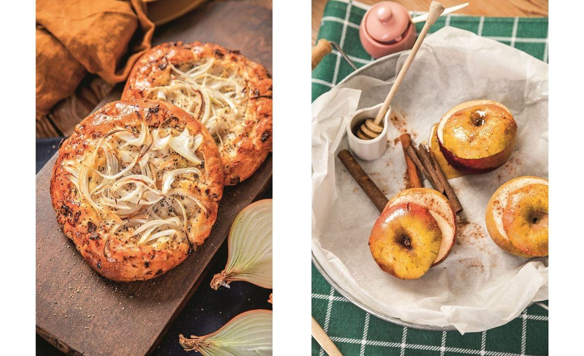 Cebularze i jabłka pieczone (Fot. Asia Matyjek/ Studio Odczaruj gary