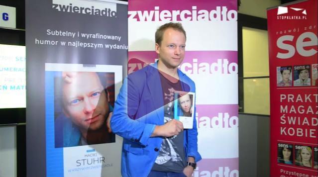Maciej Stuhr podczas Warszawskich_Targów_Ksiazki 2013, wywiad