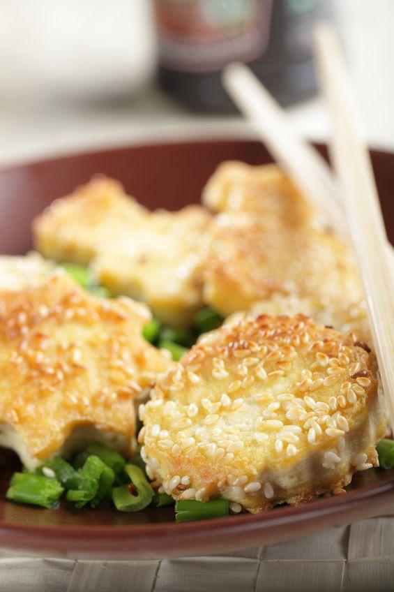 Tofu panierowane sezamem
