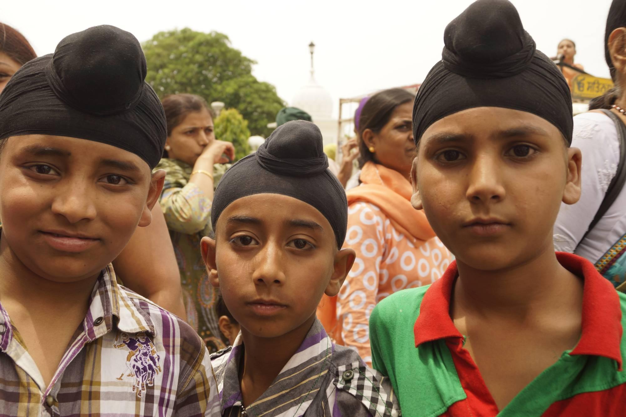 Sikhijskie turbany w Amritsarze