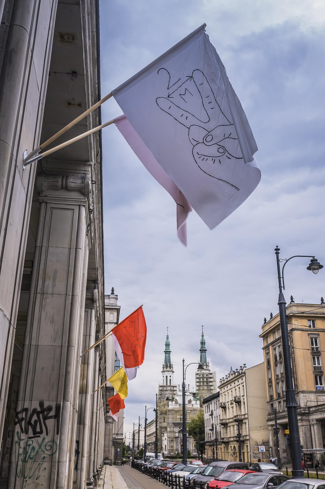 Flagi - wystawy prac Moniki Drożyńskiej