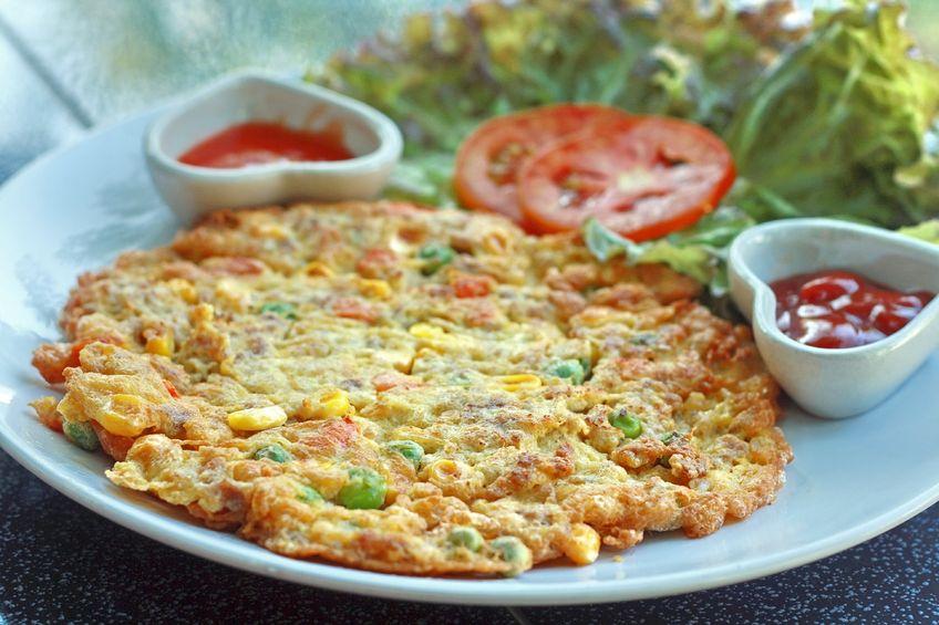 Omlet z kukurydzą
