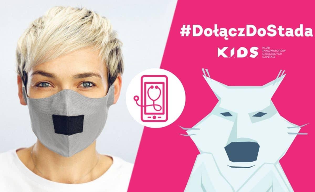"""Maseczka """"wilka"""" pomaga w pracach nad Systemem Zdalnej Opieki - akcja społeczna #DołączDoStada K.I.D.S."""