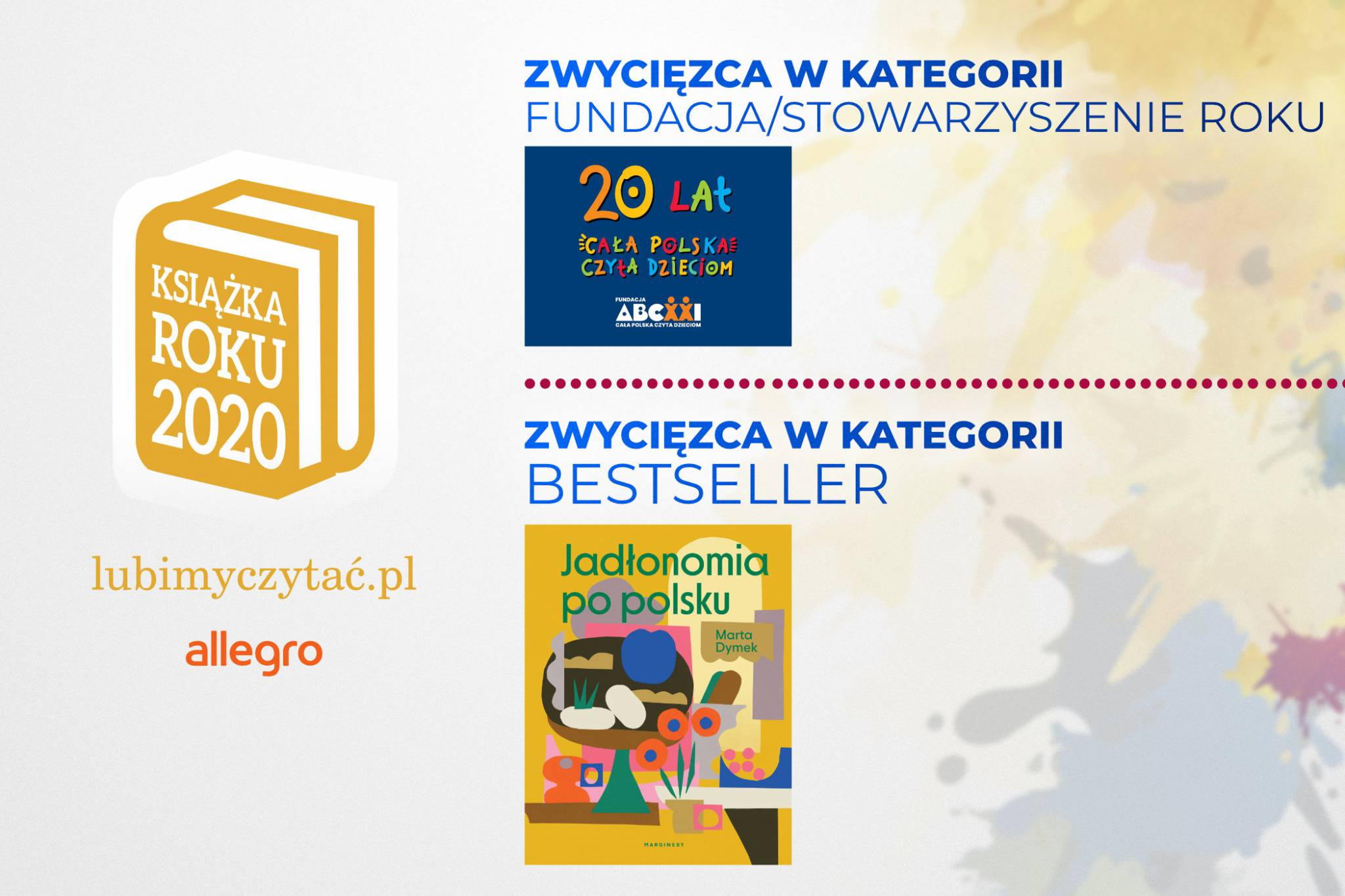 Znamy zwycięzców Plebiscytu Książka Roku 2020!