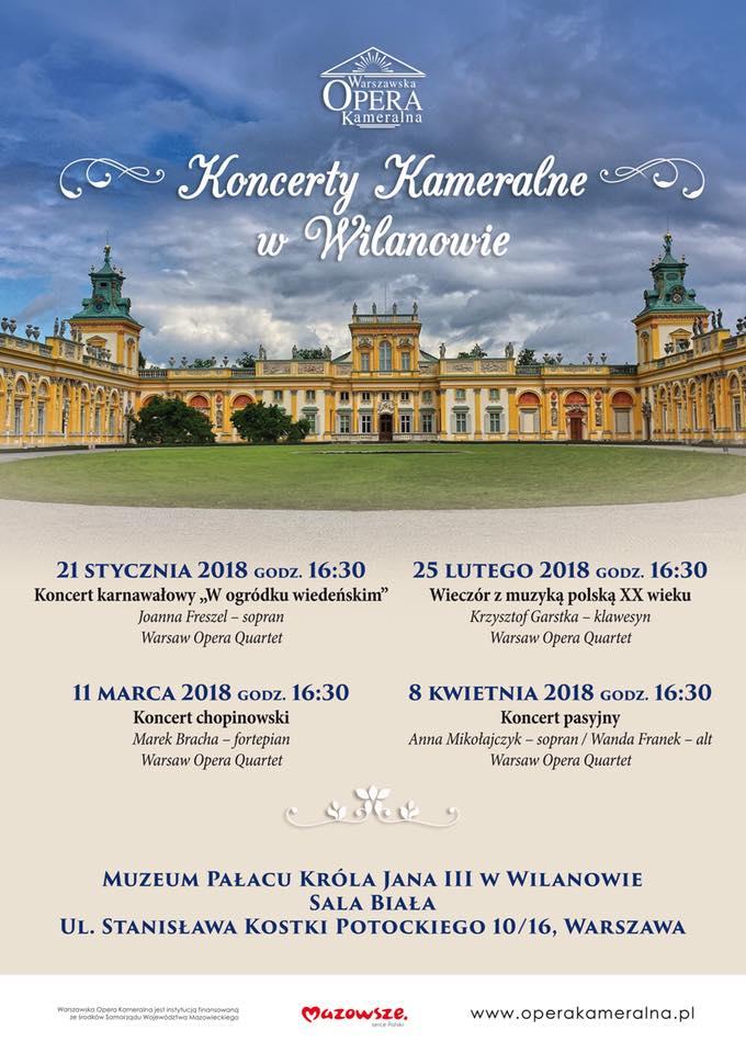 Najbliższe koncerty Warszawskiej Opery Kameralnej