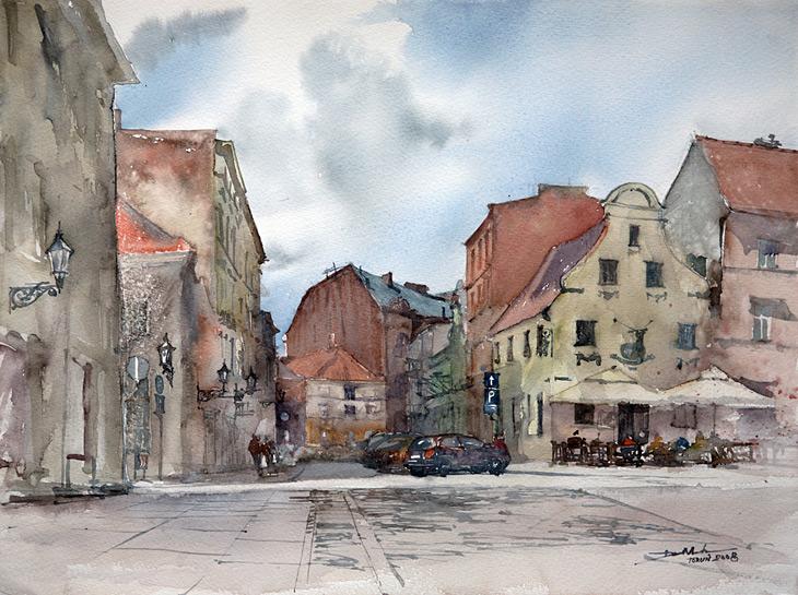 Warszawa na pięknych akwarelach