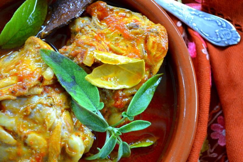 Kuchennymi drzwiami: Addio pomidory? Marokański kurczak w pomidorowym  dżemie