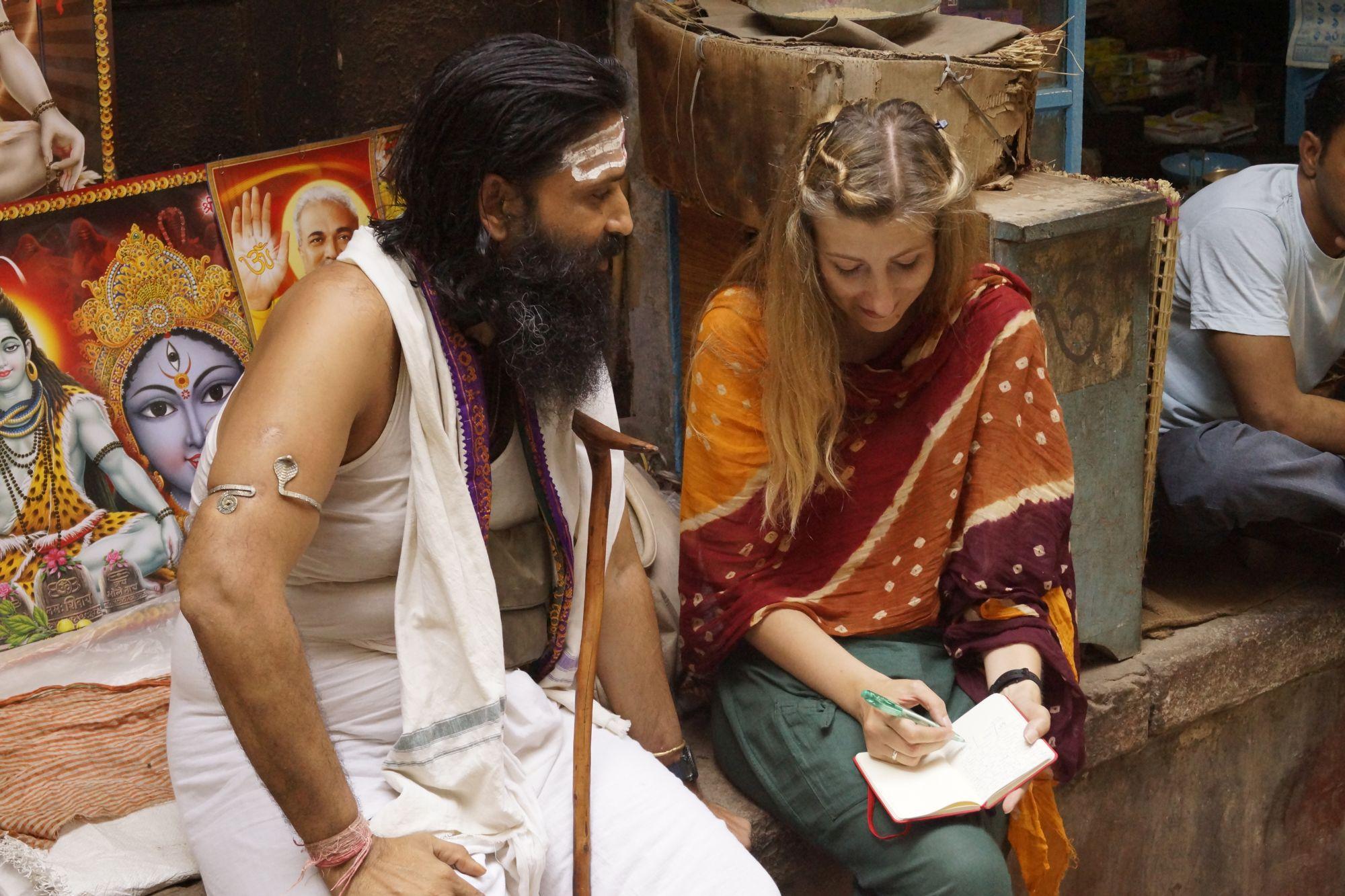 Podczas rozmowy z Kripalem - bohaterem naszych opowieści z Waranasi