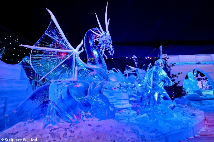 The Snow & Ice Sculpture Festival Bruges 2012