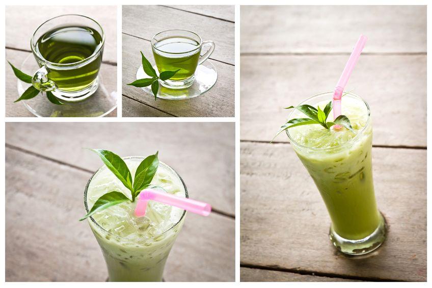Oczyszczające koktajle na bazie zielonej herbaty