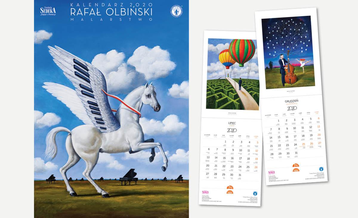 Kalendarz na 2020 rok z reprodukcjami obrazów Rafała Olbińskiego