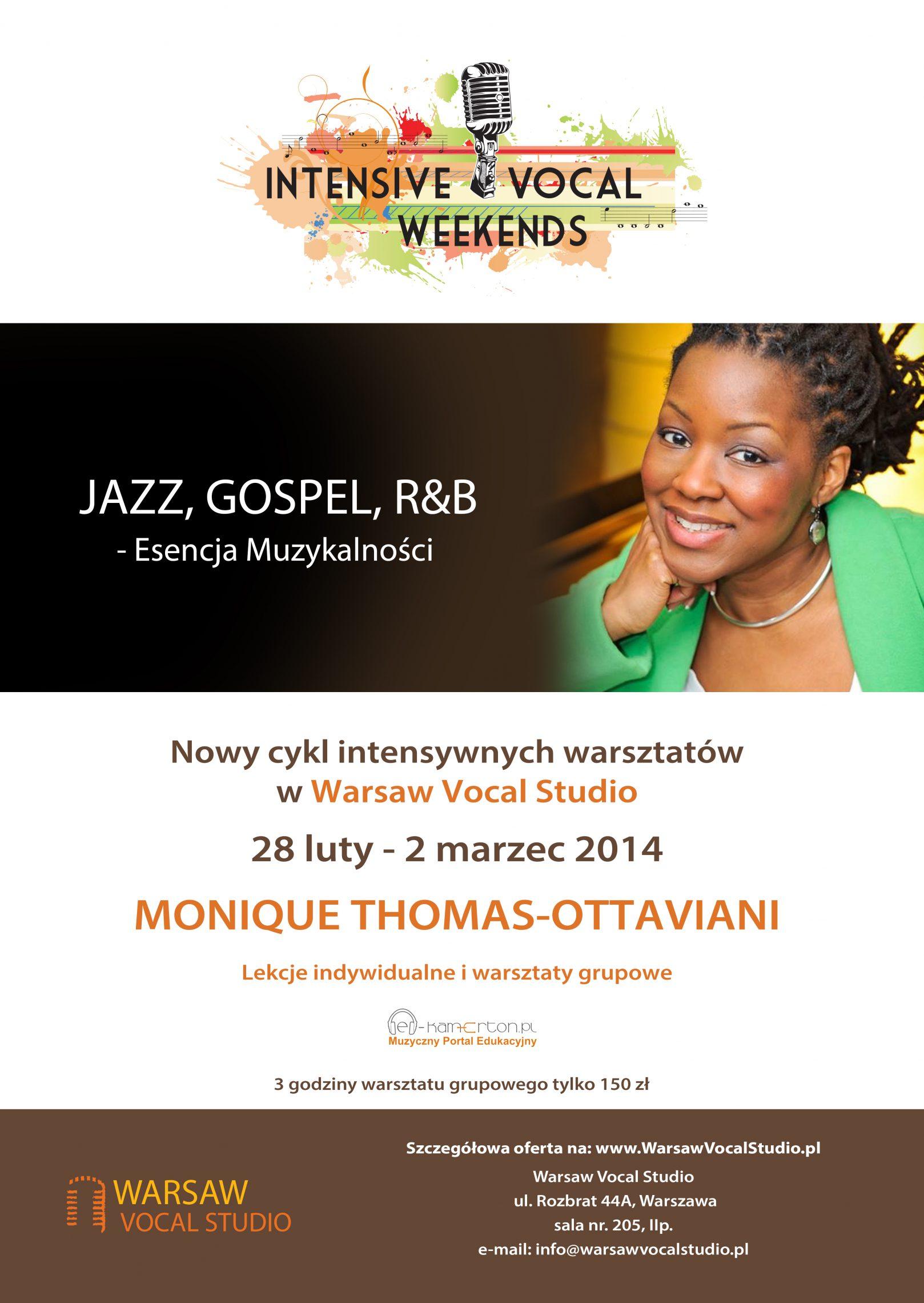 Warsztaty wokalne z Monique Thomas-Ottaviani
