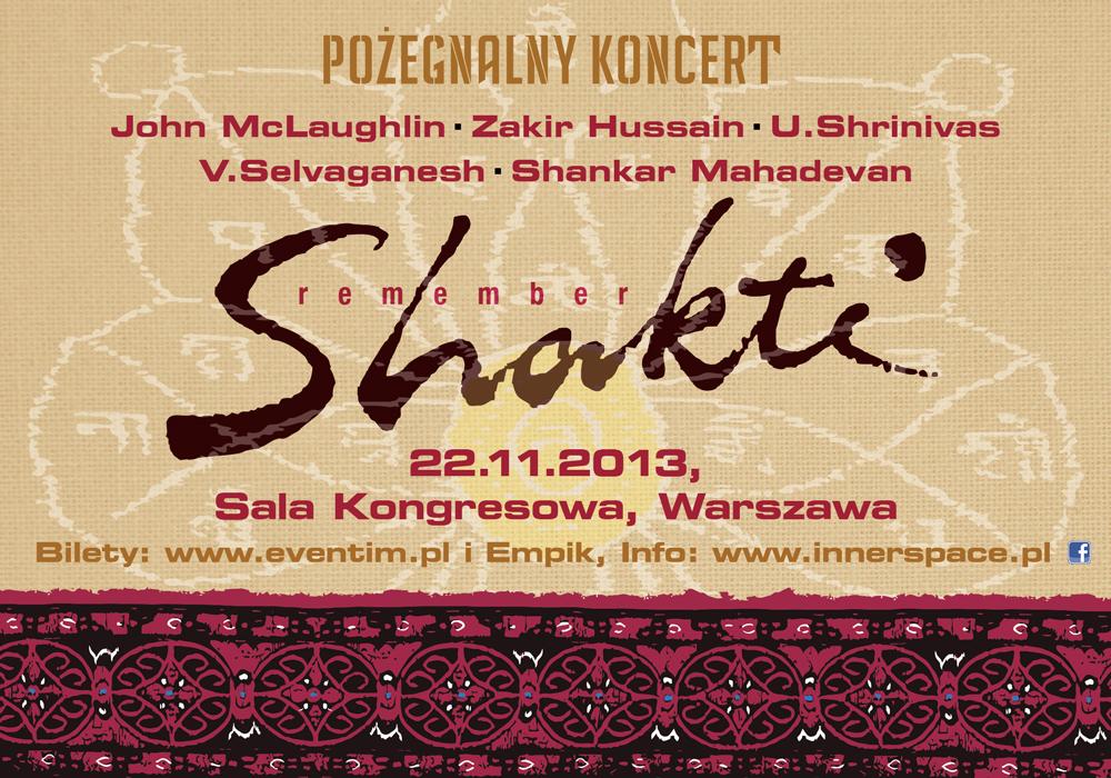 Remember Shakti - pożegnalny koncert w Warszawie