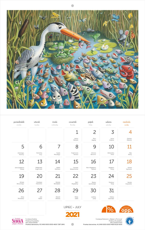 Kalendarz z Myszką Norką - kupując Zwierciadło, pomagasz potrzebującym
